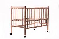 Кроватка детская Наталка простая нелакированная, ясень ( только регулировка дна, колеса), самые низкие цены