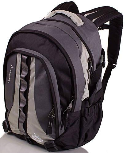 Повседневный вместительный рюкзак 33 л. Onepolar W1002-grey серый