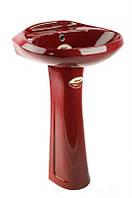 Раковина с пьедесталом Monaco VTL3 (темно красный)