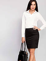 Черная обтягивающая женская юбка