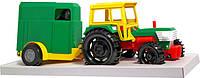 Игрушечная машинка трактор с прицепом в коробке (39009) Wader