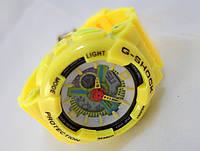 Часы женские G-Shock - Baby _G, желтые с белым, подсветка