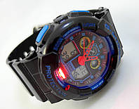 Часы женские G-Shock - Baby _G, черные с синим, подсветка