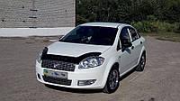 Дефлектор капота  Fiat Linea с 2007, Мухобойка Fiat Linea