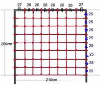 Сетка для лазанья 2,00 x 2,10 м S-Hook для детских игровых комплексов
