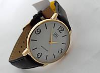 Часы мужские Q@Q  классические в золоте, Q854J