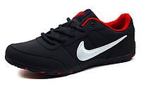 Kроссовки мужские Nike Power Design, темно-синие, PU кожа, фото 1