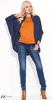 Женские мягкие джинсы синего цвета с манжетом внизу. Модель Nicola Zaps.