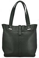Женская кожаная сумка Лора зеленая
