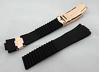 Ремешок черный к часам Ulysse Nardin женский, универсальный комплект, застежка
