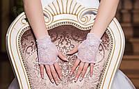 Свадебные перчатки 15-116 (кремовые)