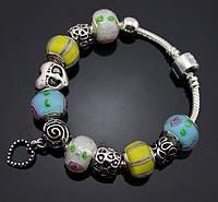 Женский браслет Pandora (Пандора) небесный с сердечком