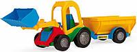 Игрушечная машинка Трактор-багги с ковшом и прицепом 39229