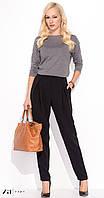 Женские классические брюки черного цвета с карманами. Модель Maryla Zaps