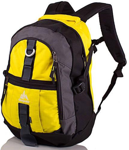 Городской яркий рюкзак на каждый день 25 л. Onepolar (ВАНПОЛАР) W731-yellow желтый