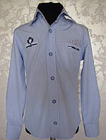 Рубашка для мальчиков классическая Голубая