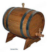 Бочка дубовая под вино, 10л.