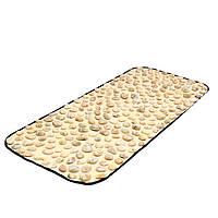 Натуральная галька - Ортопедический массажный коврик для профилактики и лечения плоскостопия 90*40  см