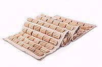 Ортопедический массажный коврик деревянный для профилактики и лечения плоскостопия 90*40  см - ежик