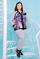 Cпортивный костюм с манжетами ЯНА (серый), фото 1