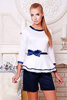 Блуза Белая Красивая с Баской