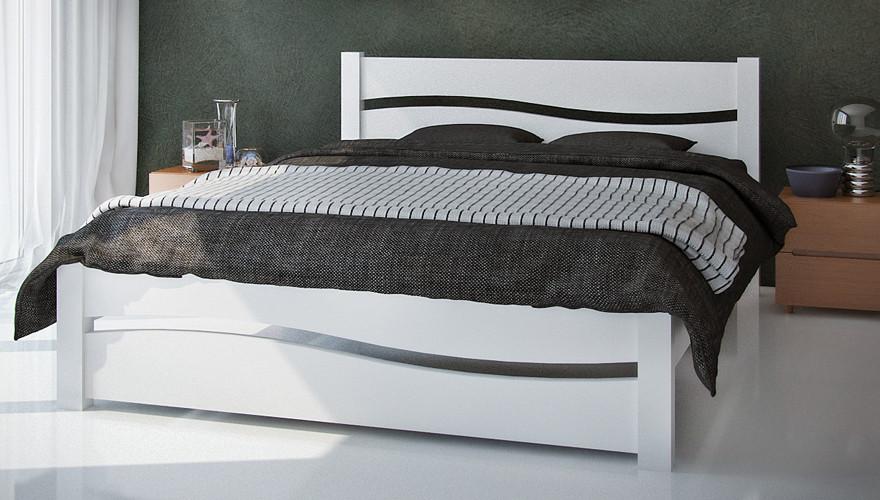 Кровать двуспальная белая фото