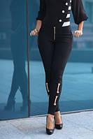 Узкие стильные брюки из коттона