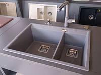 Прямоугольная гранитная мойка AquaSanita Delicia SQD 150 AW, монтаж под или в столешницу