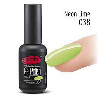 Гель лак для ногтей PNB № 38 - Neon Lime