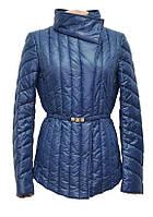 Женская куртка на синтепоне CHIAGO джинсового цвета