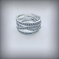1039 Серебряное кольцо Люксембург 925 пробы с камнями