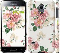 "Чехол на Samsung Galaxy S5 mini G800H цветочные обои м1 ""2293c-44"""