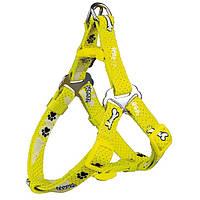 Trixie Шлейка для собаки Modern Art One Touch Geschirr Woof xs-s(30-40см)