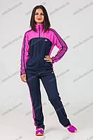 Спортивный костюм  синий с розовым