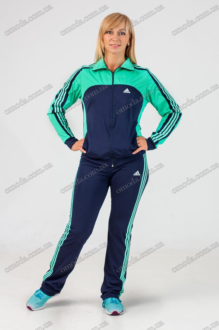 Женский спортивный костюм синий адидас