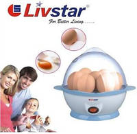 Яйцеварка, дла 7 яиц кипятить в течение 5-7  минут