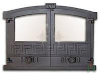 Чугунные дверцы со стеклом Н2003 (600x430)
