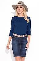 Женская джинсовая юбка синего цвета из коттона. Модель Mika Zaps.