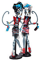 Набор кукол Монстер Хай 2 кошки Мяулодия и Пурсефона Зомби Шейк Monster High Meowlody and Purrsephone