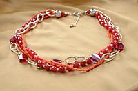 Ожерелье из красного коралла Прекрасная леди