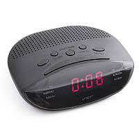 Часы сетевые VST 908-1 красные, радио FM