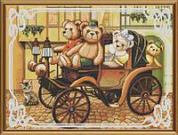 Набор для вышивания крестиком с фоновым рисунком Семейная поездка