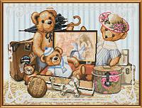 Набор для вышивания крестиком с фоновым рисунком Детские шалости