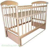 """Деревянная кроватка для новорожденного """" Маятник """""""