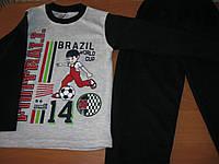 Детская  пижама футбол для мальчика 7-8-9