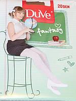 Капроновые колготки для девочки, бежевые, 20 den, рост 140 - 146 см, Duve