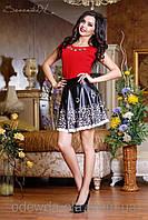Кожаная нарядная юбка от производителя Харьков