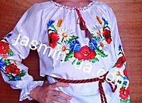 Вышиванки для девочек с маками