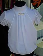 Блузка трикотажная шифоновые плечи