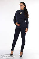 """Узкие брюки для беременных """"Inga"""", темно-синие 2"""